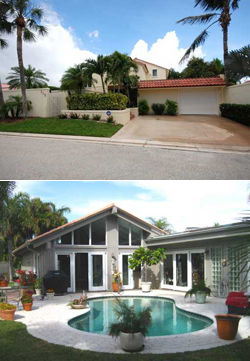 Ocean Walk Place is a gated community of ranch-style and two-story homes located on the beach in Jupiter Florida.