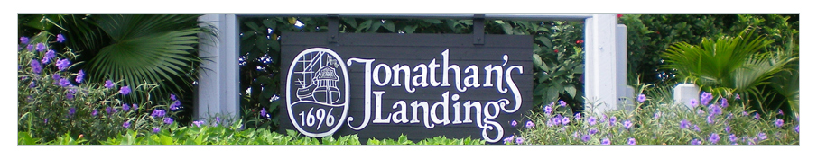 Original Jonathan's Landing Entry Sign