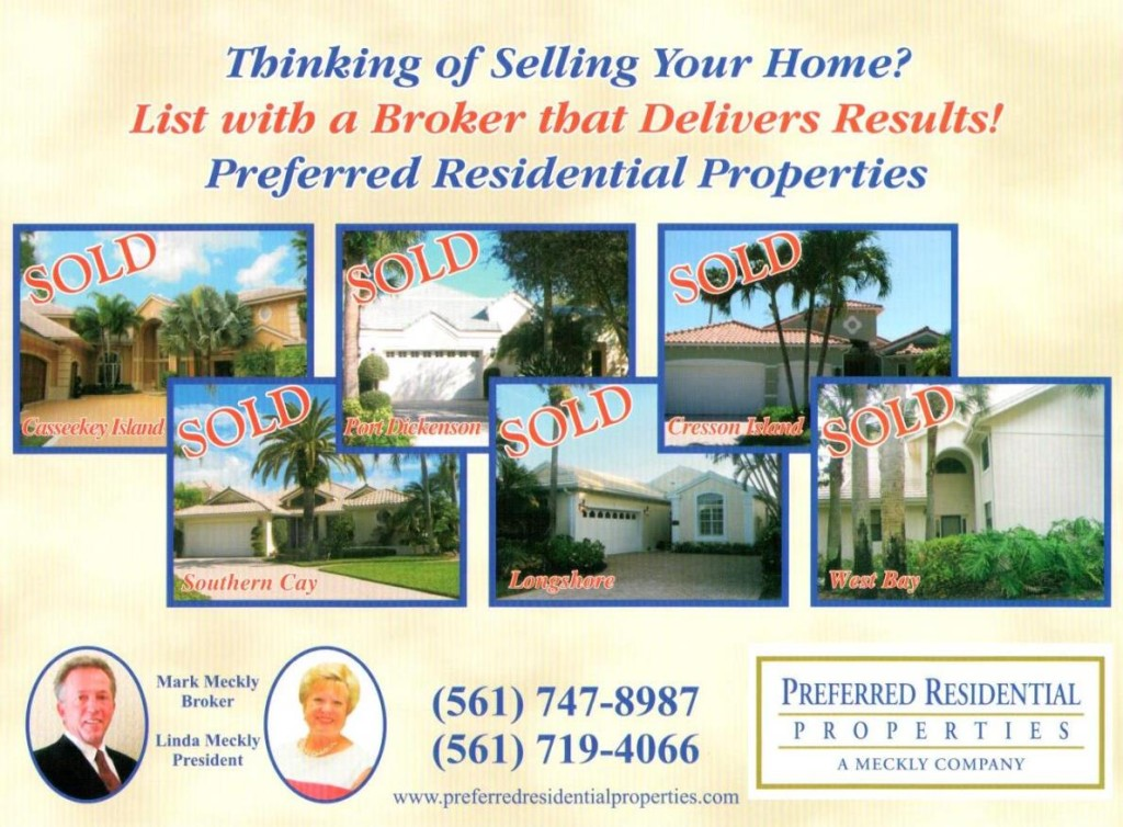 Mark Meckly of Preferred Residential Properties was the top selling agent in Jonathan's Landing in 2015, selling 17 homes totaling over Thirteen Million Dollars in sales.