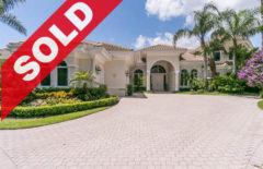 SOLD! Jonathan's Landing Intracoastal Waterway Home For Sale - 16709 Port Royal Circle Jupiter FL