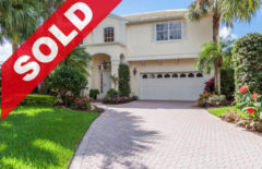 SOLD! Jonathan's Landing Lakefront Home For Sale - 17048 Crossgate Drive, Jupiter, FL 33477